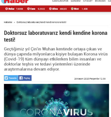 Screenshot 2020 12 20 Doktorsuz laboratuvariz kendi kendine korona testi